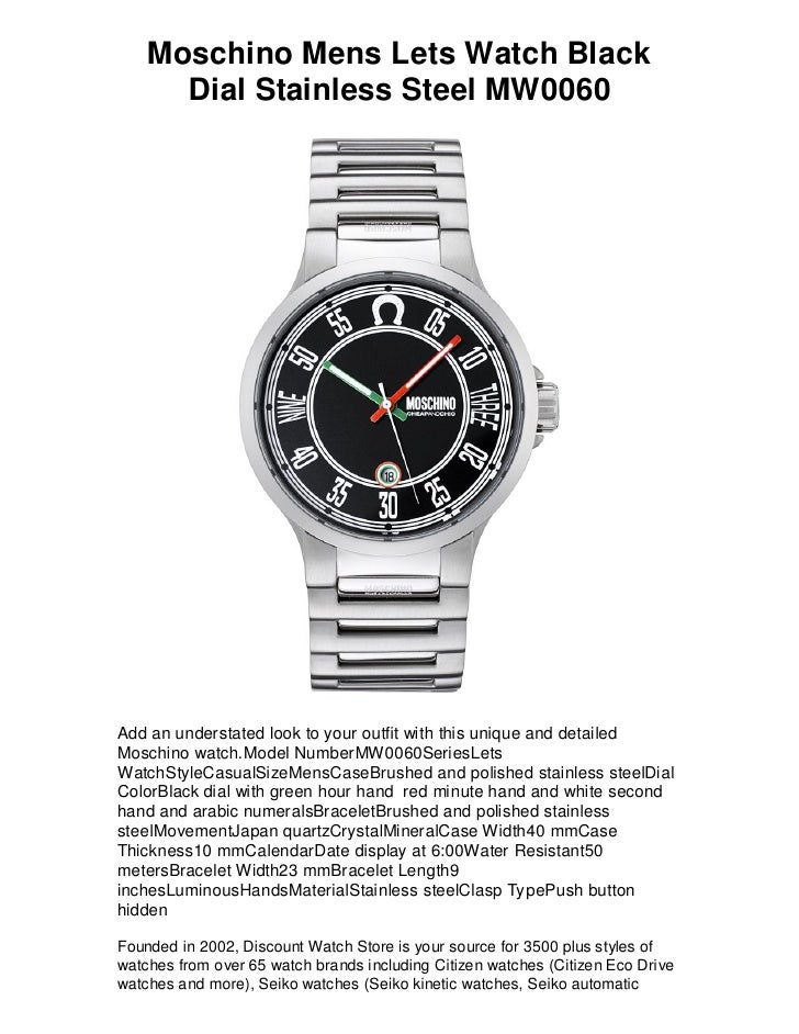moschino mens lets watch black dial stainless steel mw0060 shi moschino mens lets watch black dial stainless steel mw0060 add an understated look to your outfit