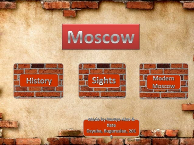 Moscow is the capital of Russia, its political, economic, commercial and cultural centre. It was founded 8 centuries ago b...