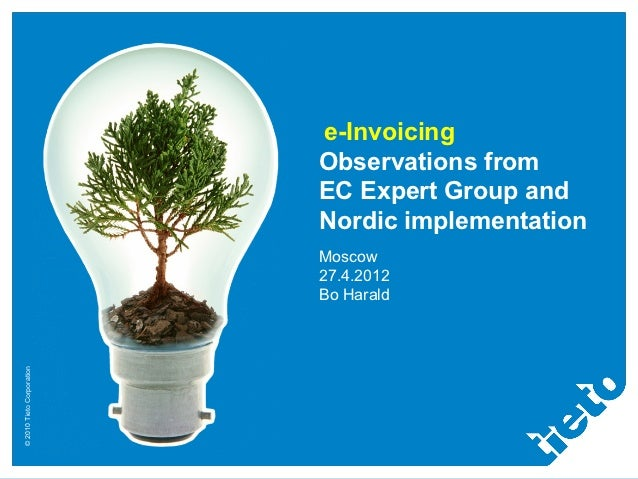 e-Invoicing                           Observations from                           EC Expert Group and                     ...