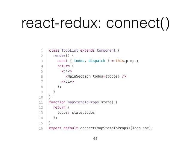 react-redux: connect() 65