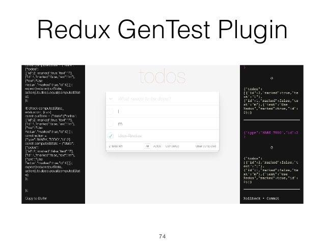 Redux GenTest Plugin 74