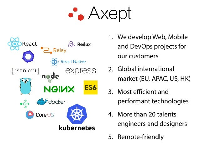 1. We develop Web, Mobile and DevOps projects for our customers 2. Global international market (EU, APAC, US, HK) 3. Most ...