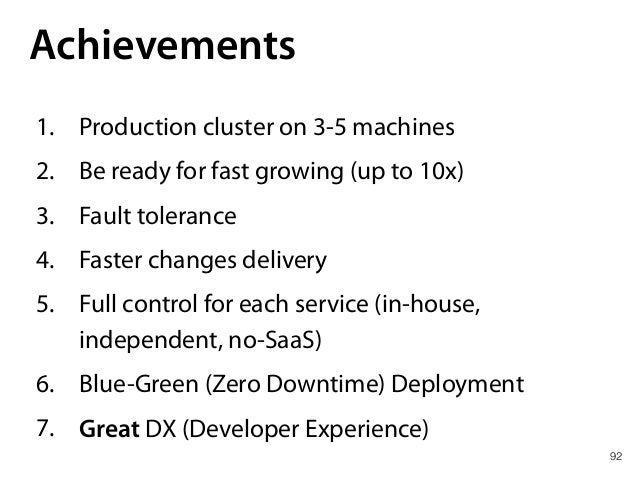 99 Take aways 1. CoreOS is not about microservices management 2. CoreOS is just Container OS (Container Linux!) 3. CoreOS ...