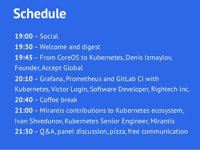 Welcome talk for Moscow Kubernetes Meetup 1 Slide 2