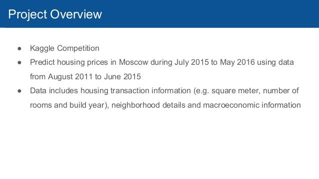 Kaggle Top1 Solution Predicting Housing Prices In Moscow