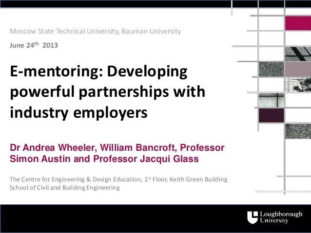 Dr Andrea Wheeler, William Bancroft, ProfessorSimon Austin and Professor Jacqui GlassThe Centre for Engineering & Design E...