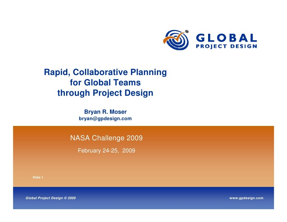 Rapid, Collaborative Planning                    for Global Teams                through Project Design                   ...
