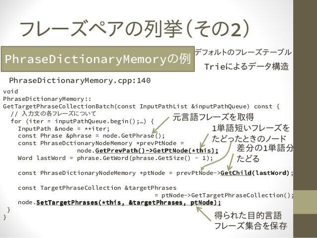 Mosesdecoderコード解読の勘所