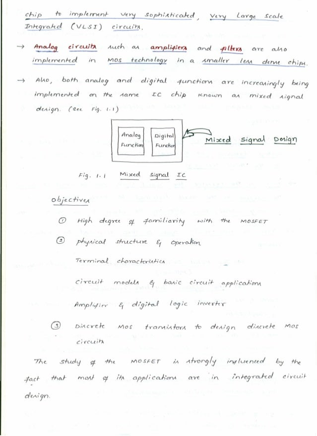 MOSFETs (10EC63) Notes for Electronics & Communication