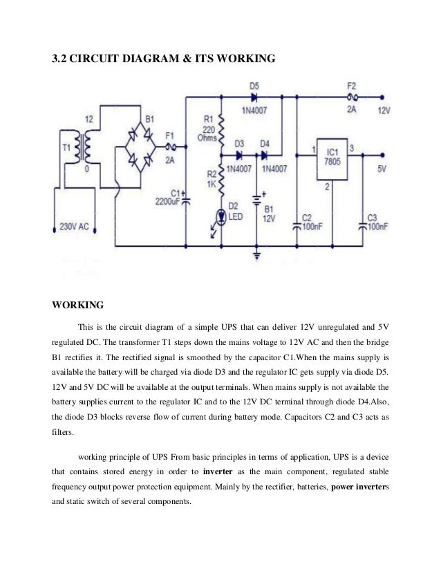 Mosfet based ups cumeps