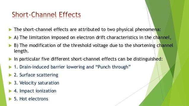 Short channel effects in mosfet pdf