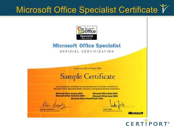 Certificate In Microsoft Office Vaydileforic