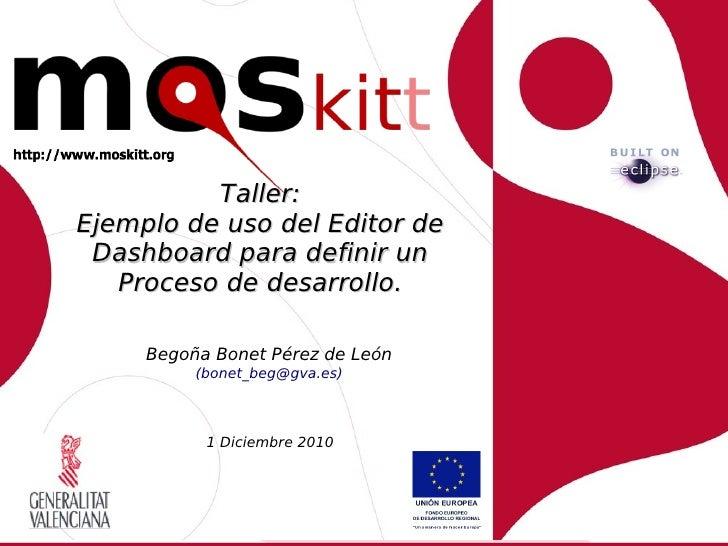 Ejemplo de uso del Editor de Dashboard para definir un Miniproceso de desarrollo.     Begoña Bonet Pérez de León          ...