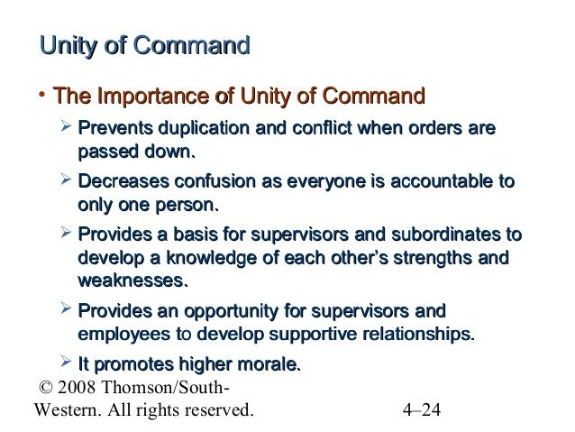 Importance of Command