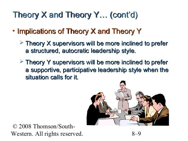 theory x and theory y leadership styles