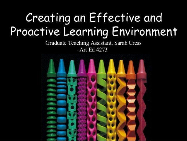 Creating an Effective and Proactive Learning Environment Graduate Teaching Assistant, Sarah Cress Art Ed 4273