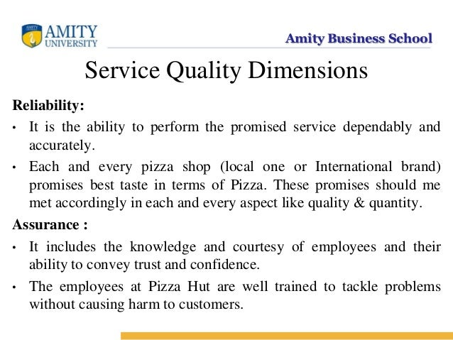service quality dimensions Quality and eight factors that best explained perceived service quality in the city  restaurants keywords restaurant service quality, service quality dimensions,.