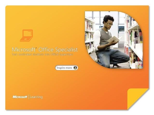 """Series """"Master""""Microsoft OfficeSpecialist (MOS) es el           Valida competencia global y profunda                      ..."""
