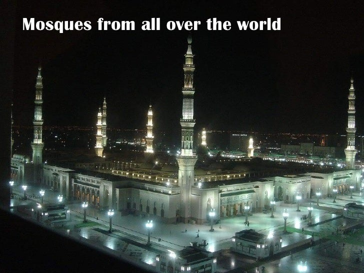 Mosques from all over the world
