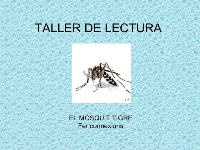 TALLER DE LECTURA EL MOSQUIT TIGRE Fer connexions