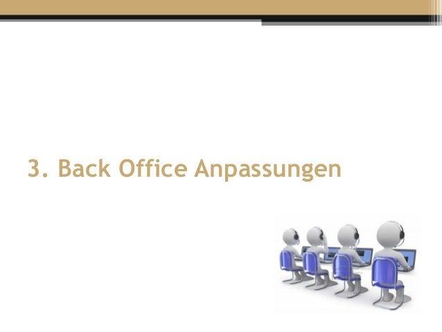 3. Back Office Anpassungen