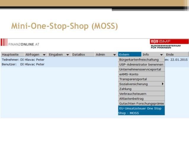 Mini-One-Stop-Shop (MOSS)