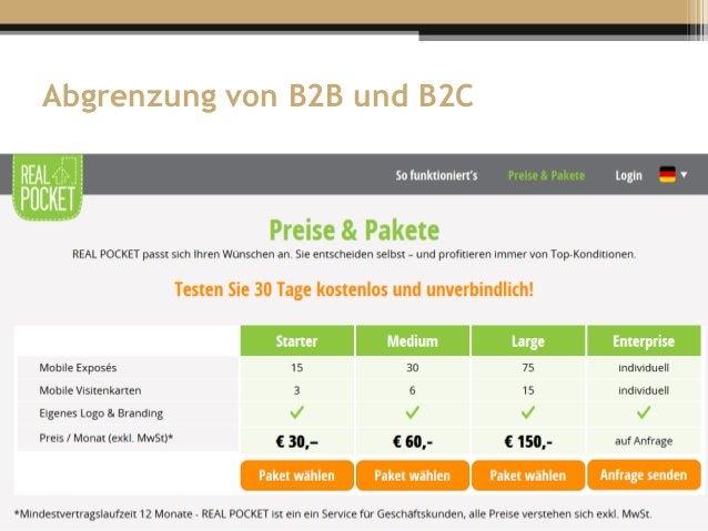Abgrenzung von B2B und B2C