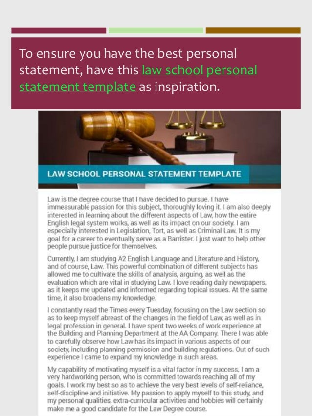 most impressive llm personal statement samples ever