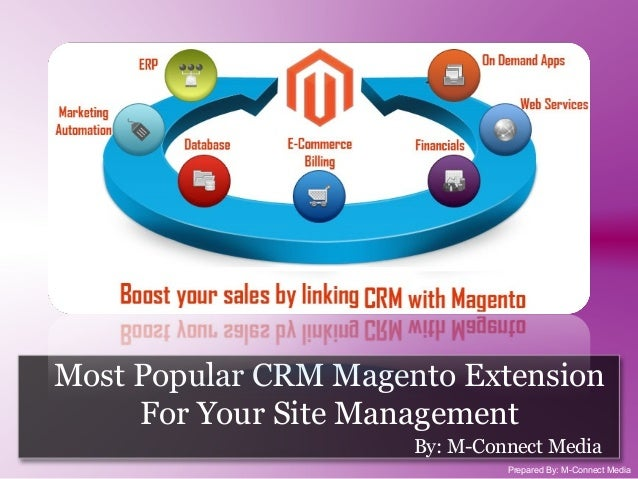 Most Popular CRM Magento Extension For Your Site Management By: M-Connect Media Prepared By: M-Connect Media