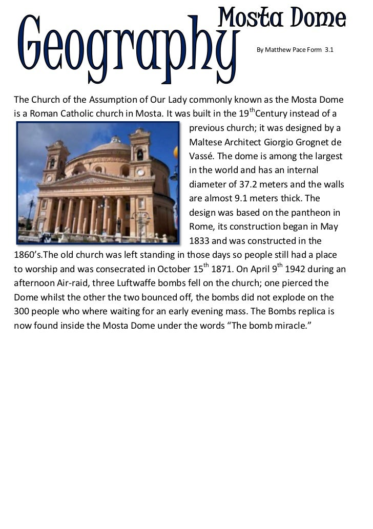 By Matthew Pace Form  3.1         <br />-548640605155The Church of the Assumption of Our Lady commonly known as t...
