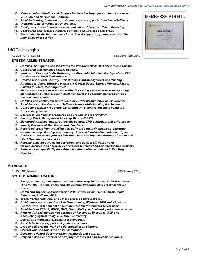 mostafa ammer cv resume