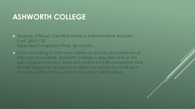 most affordable online medical assistant programs