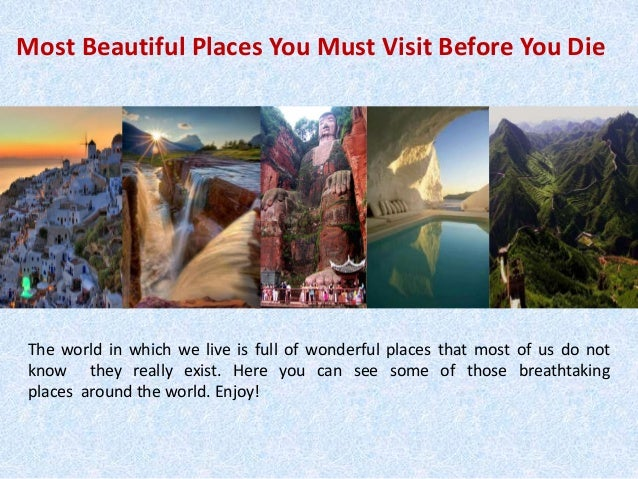 Richard Meirowitz Most Beautiful Places You Must Visit Before You D