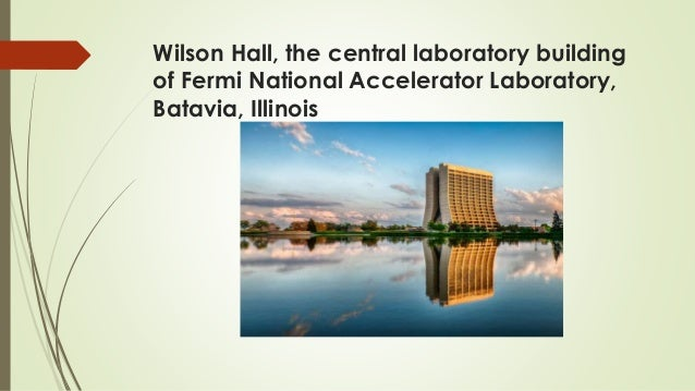 Wilson Hall, the central laboratory building of Fermi National Accelerator Laboratory, Batavia, Illinois