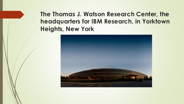 The Thomas J. Watson Research Center, the headquarters for IBM Research, in Yorktown Heights, New York