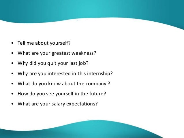 Most Common Internship Interview Questions