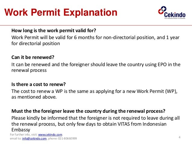 Most common question about work permit