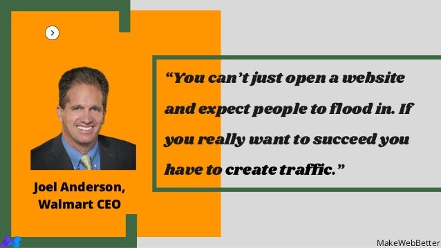 """""""You can't just open a website and expect people to flood in. If you really want to succeed you have to create traffic."""" M..."""