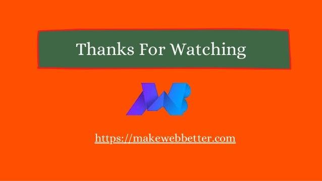 Thanks For Watching https://makewebbetter.com