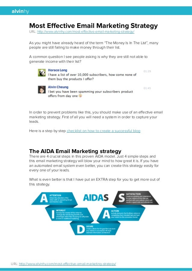 alvinhy  Most Effective Email Marketing Strategy  URL: http://www.alvinhy.com/most-effective-email-marketing-strategy/  As...