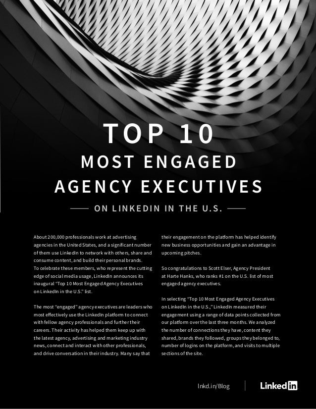About 200,000 professionals work at advertising agencies in the United States, and a significant number of them use Linked...