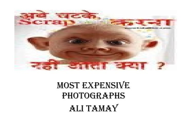 Most expensive photographs Ali Tamay
