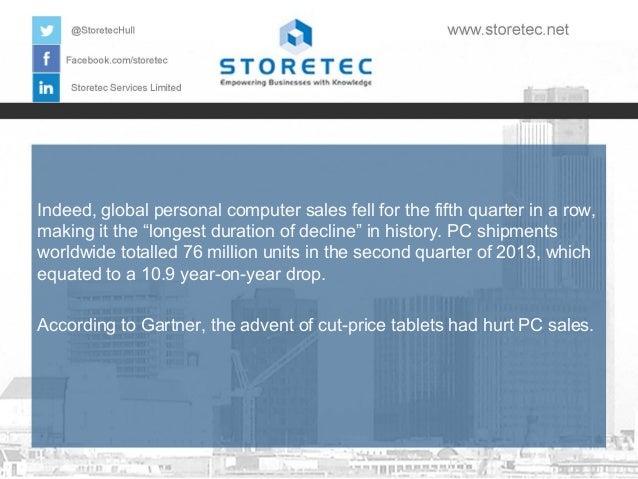 Most Important Data Storage Events of 2013: Revealed PC Sales Slide Slide 2
