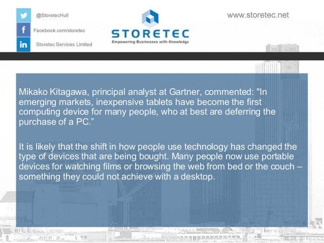 Most Important Data Storage Events of 2013: Revealed PC Sales Slide Slide 3