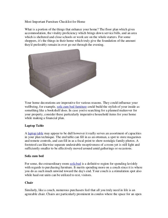 Marvelous Most Important Furniture Checklist For Home Short Links Chair Design For Home Short Linksinfo