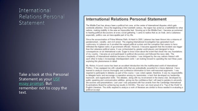 Most Impressive Personal Statement Sample 6 Take A Look At This Personal  Statement As Your Usf