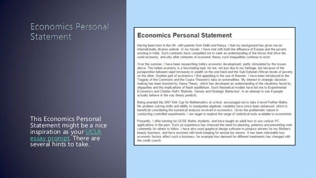 Impressive personal statement