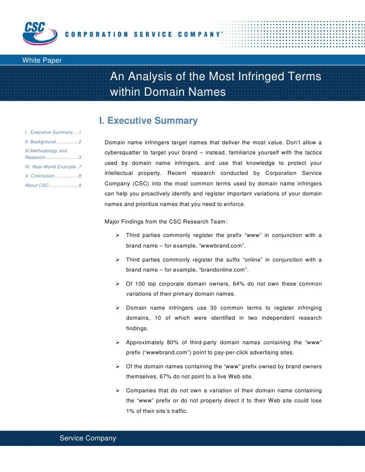 White Paper                                           An Analysis of the Most Infringed Terms                       ...