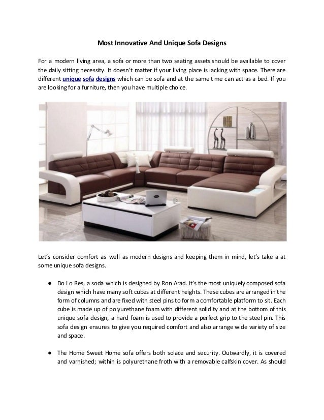 Beautiful Most Innovative And Unique Sofa Designs For A Modern Living Area, A Sofa Or  More ...