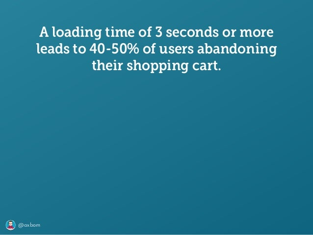 @axbom A loading time of 3 seconds or more leads to 40-50% of users abandoning their shopping cart.